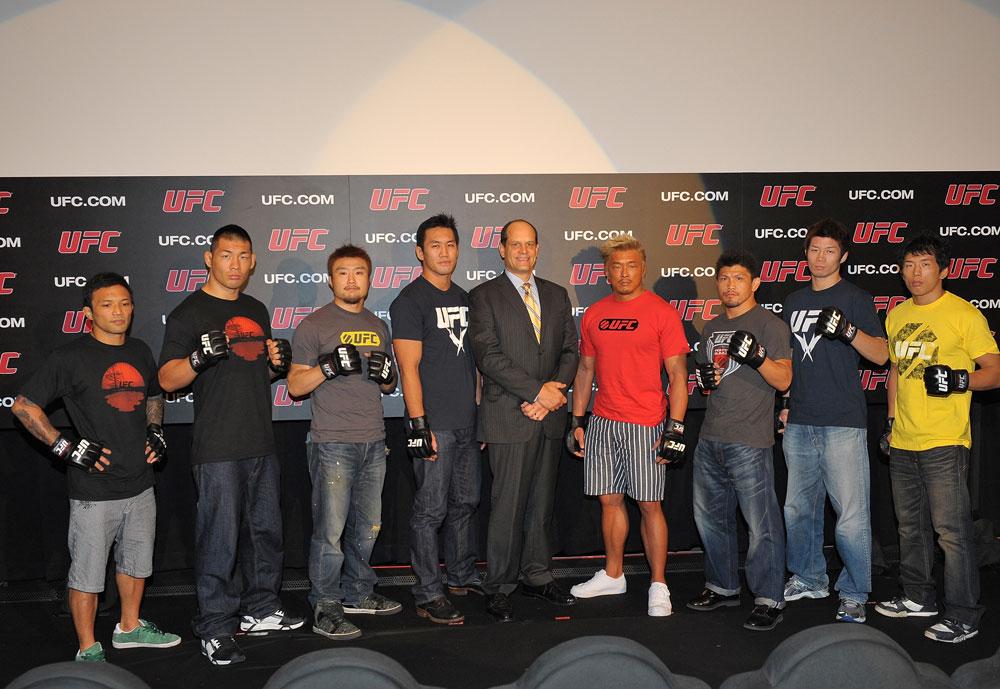 Kid Yamamoto, Riki Fukuda, Takanori Gomi, Yushin Okami, Mark Fischer, Yoshihiro Akiyama, Michihiro Omigawa, Hatsu Hioki and Takeya Mizugaki