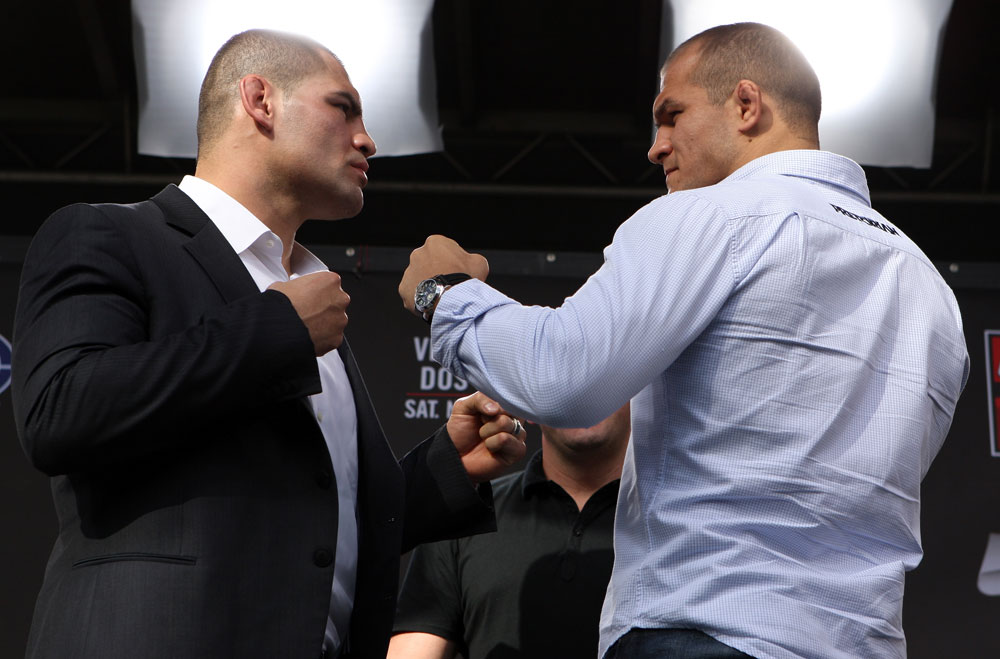 Cain Velasquez and Junior dos Santos square off