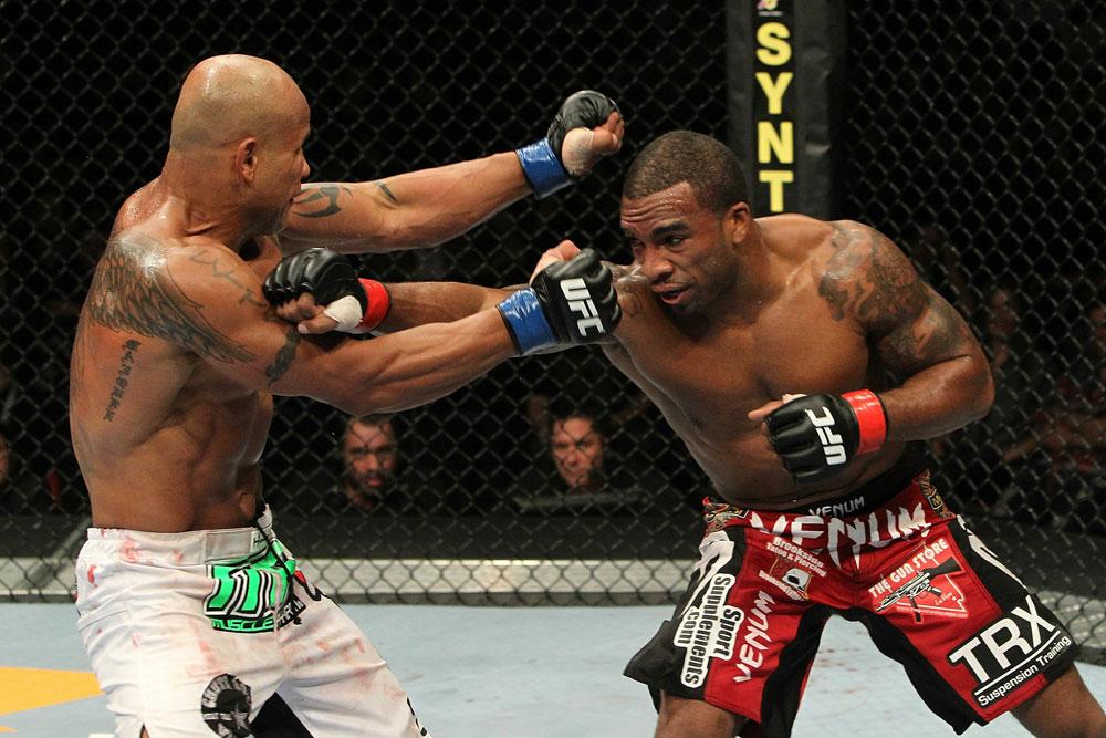 Falcao gegen Harris (Foto via UFC.com)