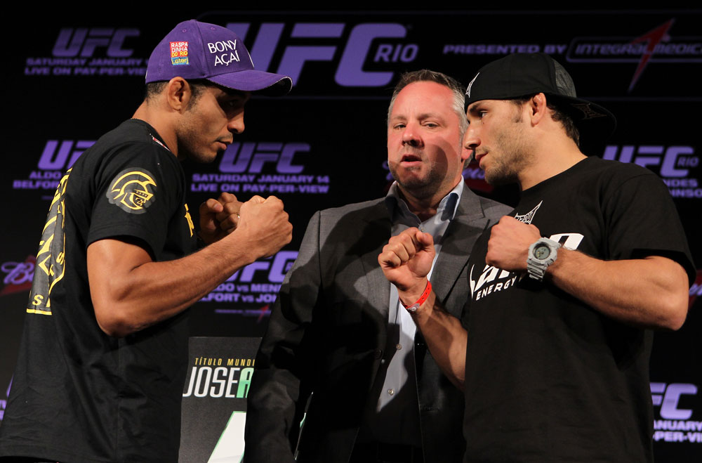 Aldo and Mendes square off before their UFC 142 clash