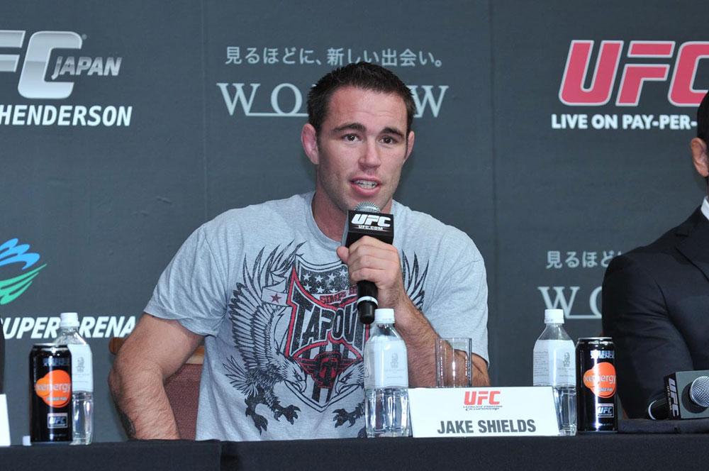UFC welterweight Jake Shields